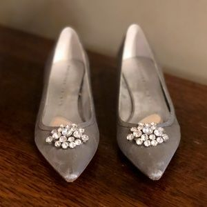 Martinez Valero size 6.5 silver evening heel